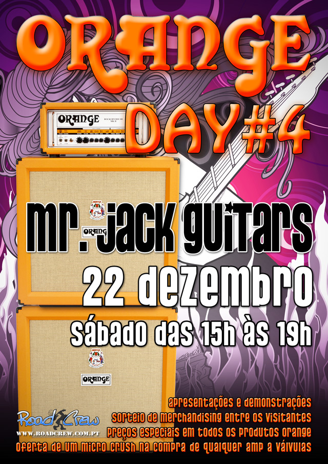 Orange Day no Mr. Jack Guitars